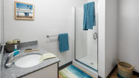 Large, luxury, glass shower, Athens