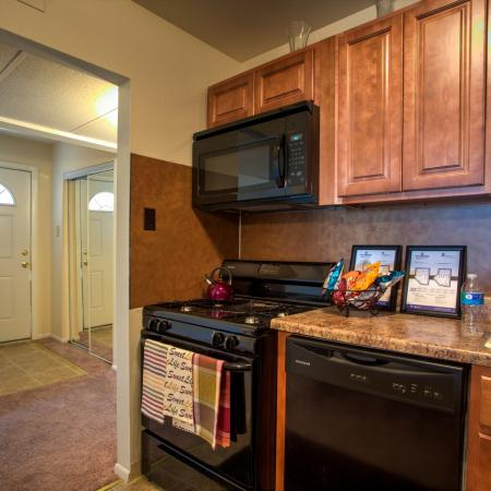 kitchen at rowan university housing complex