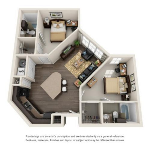 2 bedroom apartments in md