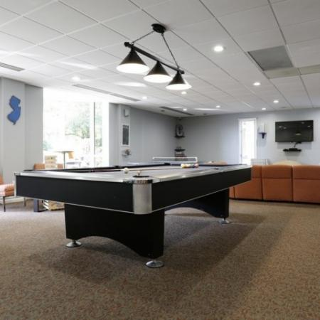 pool table at crossing at glassboro