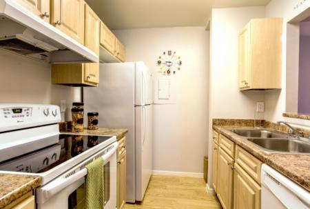 kitchen at university square student apartments