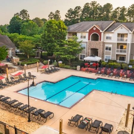 pool at student apartments in raleigh
