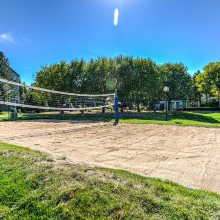 volleyball court at apartments near colorado state university