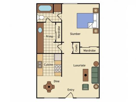 1 Bdrm Floor Plan | Apartments Near UC Davis | University Court
