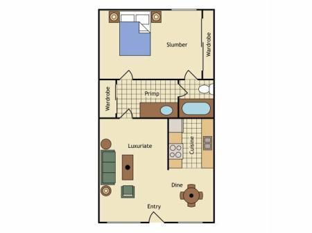 Floor Plan 1 | UC Davis Apartments | University Court