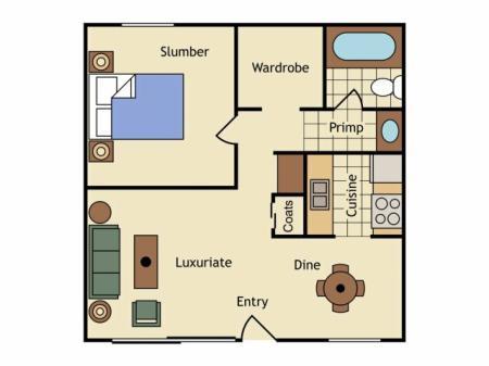 Floor Plan 3 | UC Davis Off Campus Housing | University Court