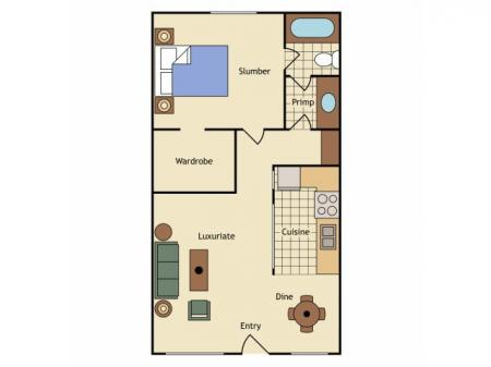 Floor Plan 6 | UC Davis Apartments | University Court