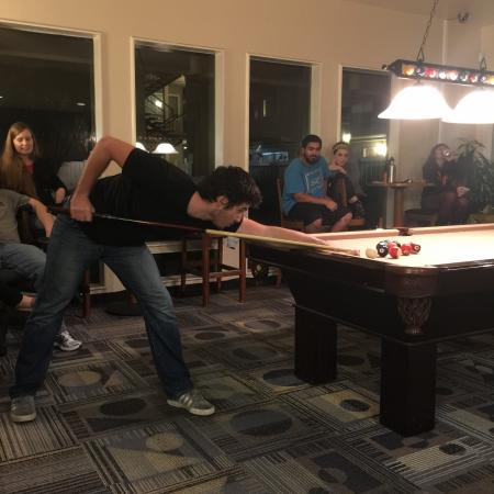 Residents Playing Billiards | Davis California Apartments for Rent | University Court