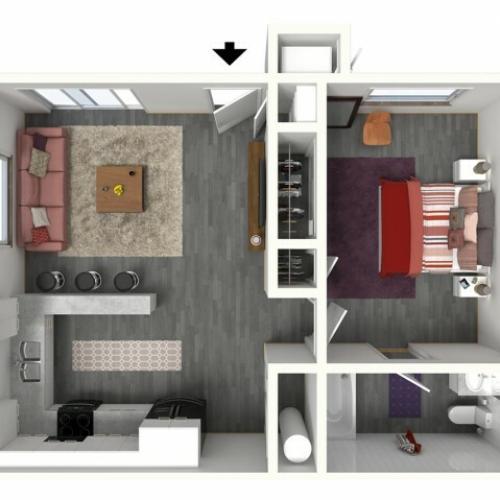 1 Bedroom Floor Plan   UC Davis Apartments   Cottages on 5th