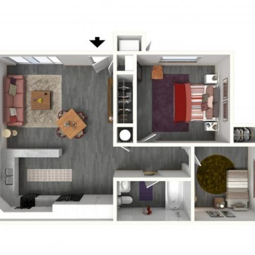 2 Bdrm Floor Plan | Apartments For Rent In Davis CA | Cottages on 5th