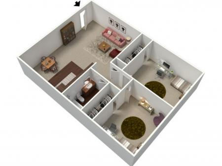 Floor Plan 1 | Apartments In Fresno CA | University Place