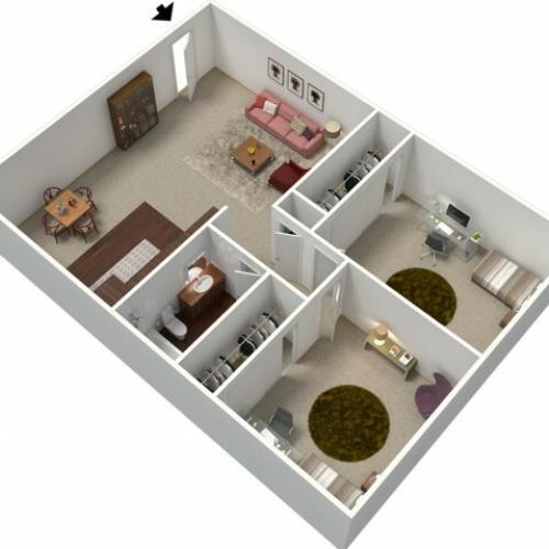 Floor Plan 1 | Apartments In Fresno CA | University Place