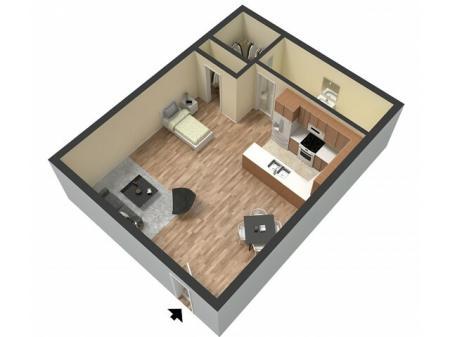 Studio Floor Plan   Studio Apartments Sacramento   Villa Regia