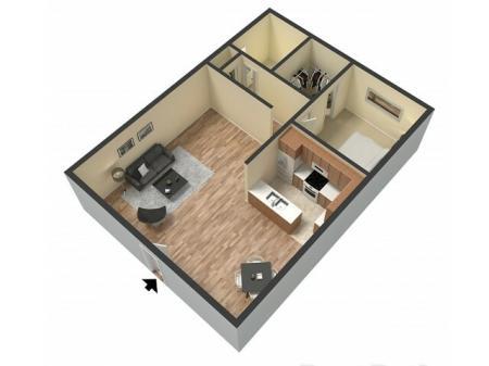1 Bedroom Floor Plan   Sacramento Apartments   Villa Regia