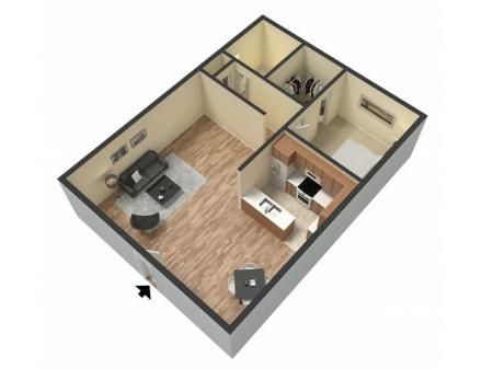 1 Bdrm Floor Plan   Sacramento Rentals   Villa Regia