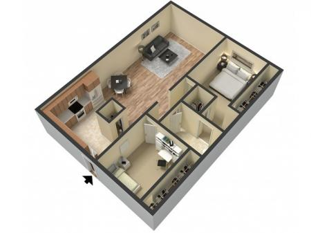 2 Bedroom Floor Plan   Studio Apartments Sacramento   Villa Regia