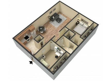 2 Bdrm Floor Plan   1 Bedroom Apartments Sacramento Ca   Villa Regia