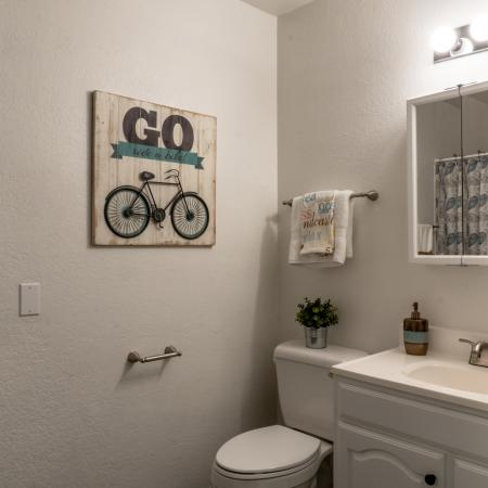 Spacious Bathroom | Davis CA Apartment For Rent | Cottages on 5th