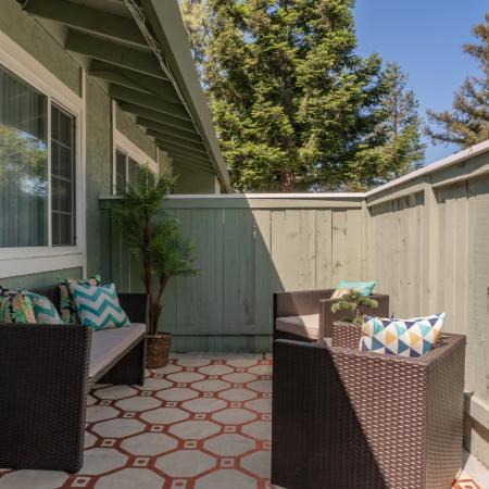 Spacious Porch Area | Davis CA Apartments | Cottages on 5th