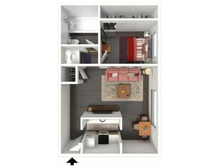 1x1 Apartment