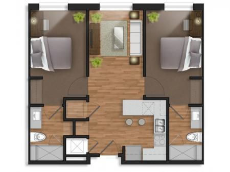 2 Bedroom, 2 Bathroom Prime