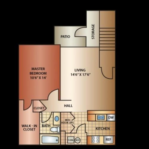 800 Sq. Ft. One Bed One Bath