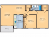 Two bedroom, One Bathroom with Dining Area