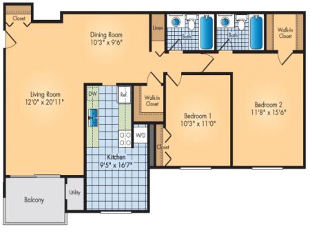2 Bedroom, 2 Bath Deluxe