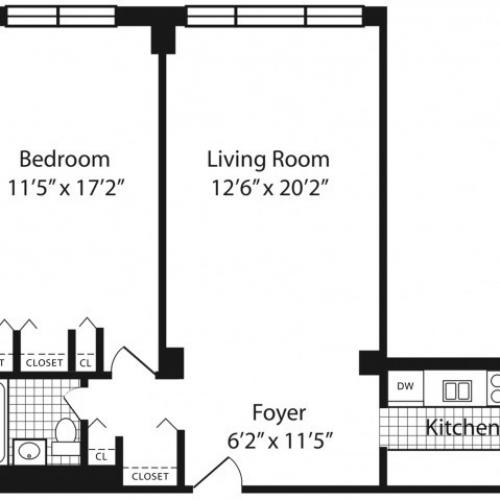 L Floorplan Floors 2-10