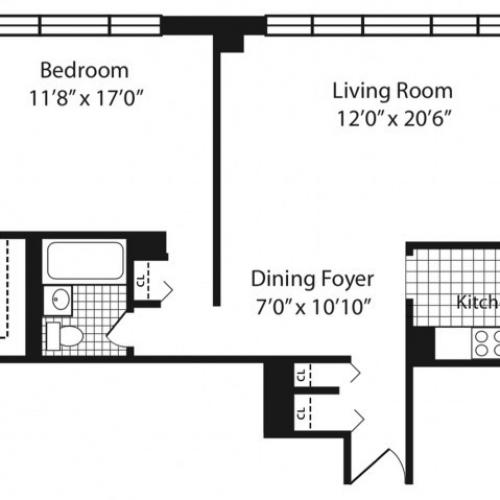 A Line Floorplan Floors 11-12