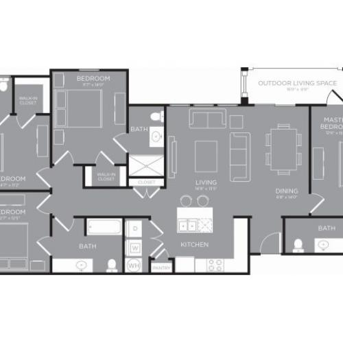 Floor Plan 28 | Luxury Apartments In Conroe TX | The Grand Estates in the Forest