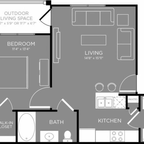 Floor Plan 1 | Aubrey TX Apartments | The Estates 3Eighty