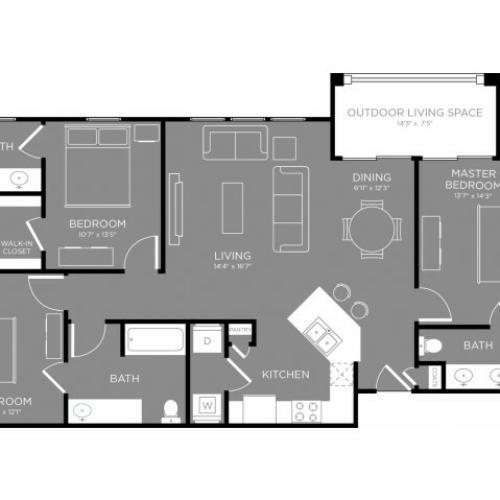 Floor Plan 5 | Apartments Little Elm TX | The Estates 3Eighty