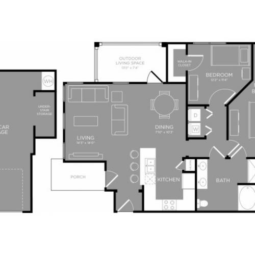 3D Floor Plan 6 | Apartments In Aubrey TX | The Mansions 3Eighty