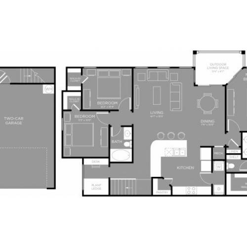 3D Floor Plan 11 | Aubrey Apartments | The Mansions 3Eighty