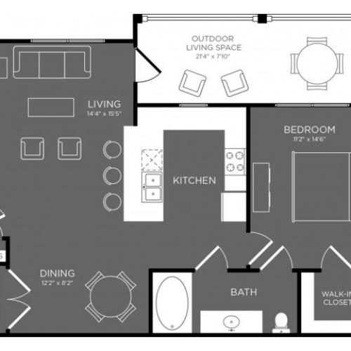3D Floor Plan 4 | Apartments In Conroe TX | The Mansions Woodland