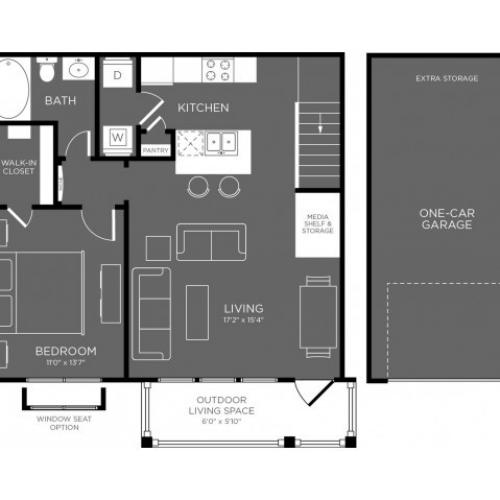 3D Floor Plan 3 | Conroe Apartments For Rent | The Mansions Woodland