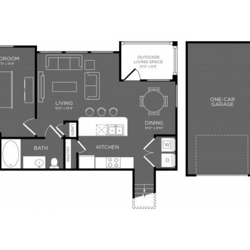 3D Floor Plan 6 | Apartments For Rent Conroe TX | The Mansions Woodland