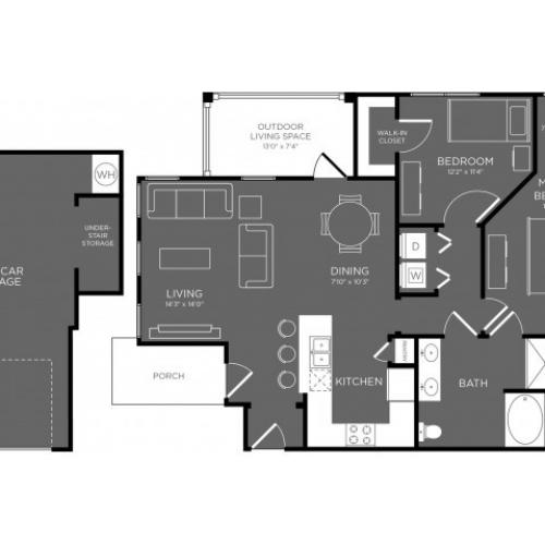 3D Floor Plan 8 | Apartments For Rent In Conroe TX | The Mansions Woodland