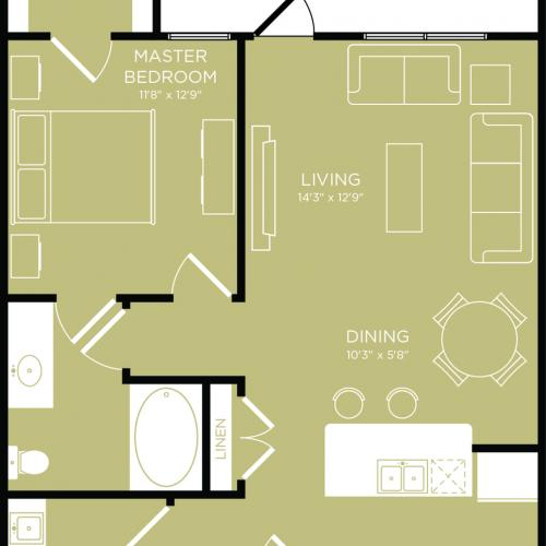 Floor Plan 5 | Wylie TX Apartments | The Mansions at Wylie