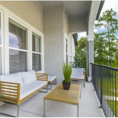 Spacious Porch Area   Apartments Conroe TX   The Mansions Woodland