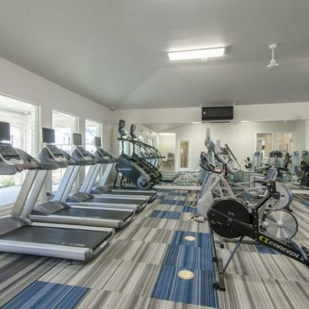 State-of-the-Art Fitness Center   Apartments For Rent Conroe TX   The Mansions Woodland