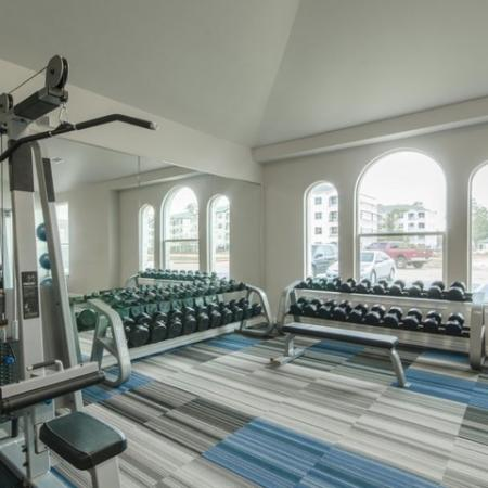 Resident Fitness Center   Apartments For Rent In Conroe TX   The Mansions Woodland