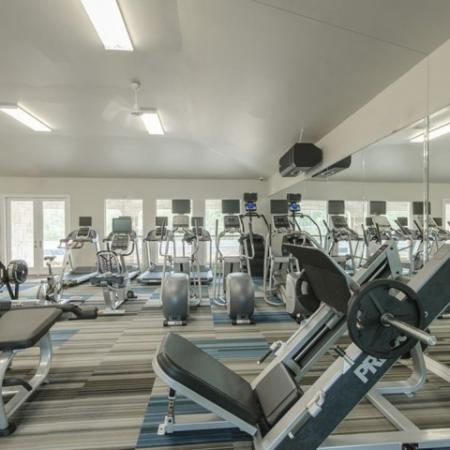 Community Fitness Center   Apartments The Woodland TX   The Mansions Woodland