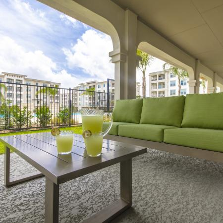 Resident Sun Deck | Apartments Seabrook TX | The Towers of Seabrook