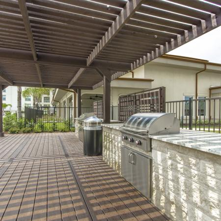 Community BBQ Grills | Apartments Seabrook TX | The Towers of Seabrook