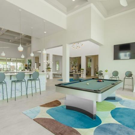 Resident Billiards Table | Apartments For Rent In Seabrook TX | The Towers of Seabrook
