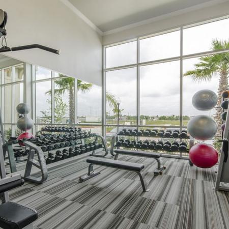 State-of-the-Art Fitness Center | Apartments In League City Texas | The Towers of Seabrook