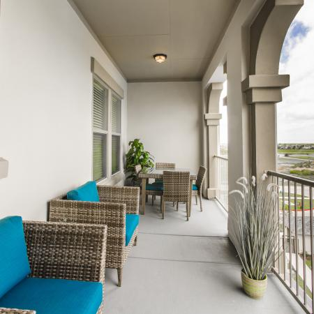 Spacious Apartment Balcony | Seabrook Apartments TX | The Towers of Seabrook
