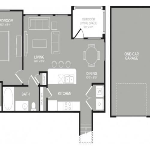 3D Floor Plan 6   Apartments In Austin TX   The Mansions at Lakeway
